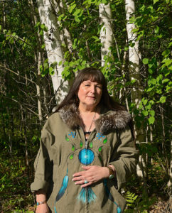 pat bruderer birch bark bitings workshop, indigenous women's arts conference, pass the feather. aboriginal arts Collective of canada