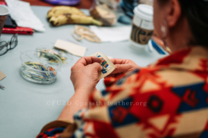 amy willier, moonstone creation, porcupine quilling workshop, porcupine quilling workshop, indigenous women's arts conference, pass the feather. aboriginal arts Collective of canada