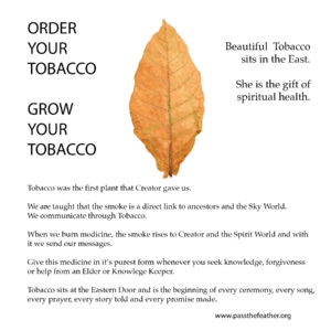 Indigenous Women's Arts Conference, Pass The Feather, schedule, Aboriginal Arts Collective of Canada, tobacco seeds, order tobacco