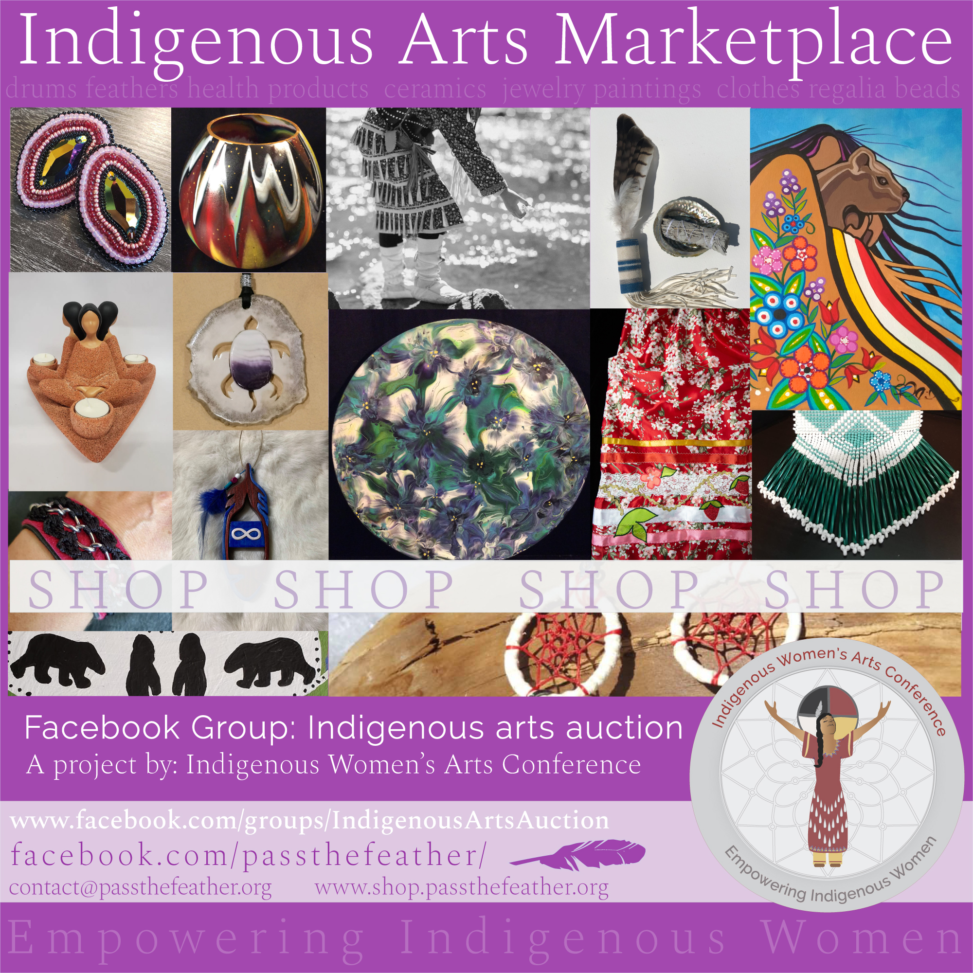 Indigenous Arts Auction Poster Facebook