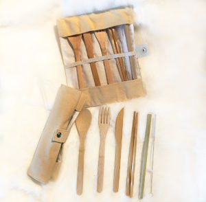 Bamboo Cutlery Set, Mother Earth's Feast Kit
